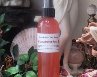 Rose Love Scented Spray Wicca Wiccan Pagan Spirituality Religion Ceremonies Hoodoo Voodoo Metaphysical MaidenMotherCrone Rituals Esbat