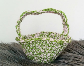 Handmade Crochet basket, Crochet Easter basket