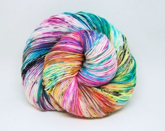 "Acoustic Sock Yarn - ""Bitchin!"" - Handpainted Superwash Merino - 400 Yards"