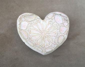 Stoneware Heart Trinket Dish