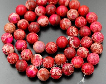 Natural Sea Sediment Jasper Beads, Red Jasper Beads, Red Beads, Red Gemstone Beads, Round Natural Beads, 4, 6, 8, 10, 12mm