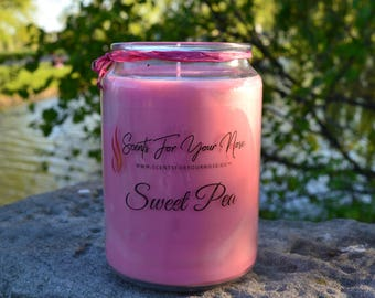 Sweet Pea Scented Candle 26.oz