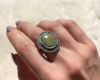 Royston Turquoise sterling silver ring size 8 1/4