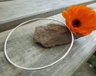 Skinny bangle, Sterling Silver bracelet, silver bangle, hammered bangle, custom size bangle, plus size bangle, custom size bracelet, bangle