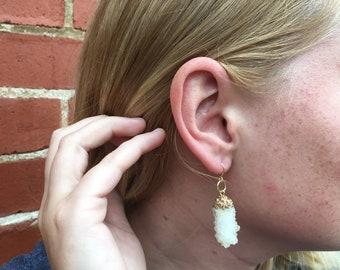 Clear long earrings