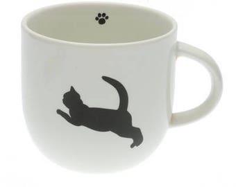 Mug Jumping Cat Silhouette napply