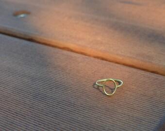 Circle brass stacking ring