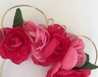 Sleeping Beauty inspired Floral Wire Mouse Ears