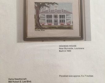 1979 Counted Cross Stitch Chart - Houmas House