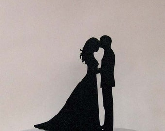 Wedding Cake Topper - Bride and Groom Wedding silhouette2