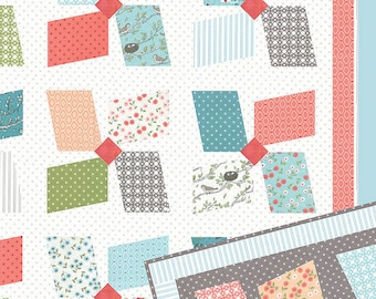 "Easy Breezy Quilt Pattern by Vanessa Goertzen of Lella Boutique for Moda- LB 165 Finished Size 82"" x 82"""