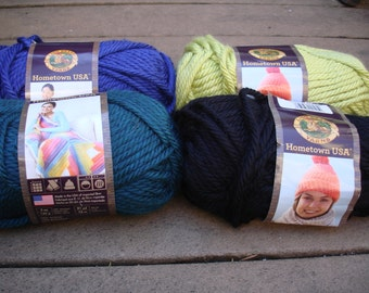 Lion Brand Hometown USA Yarn Pt 2, various colors, PLEASE check desciption for color quantities available