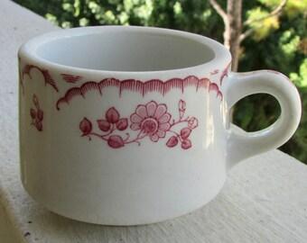Chardon Rose Diner Coffee Cup Midcentury American Restaurantware by Shenango China 1956