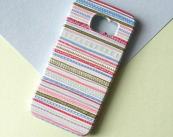 Reddish Pattern mobile phone case / Hand drawn case / Samsung Galaxy S7, Samsung Galaxy S6, Samsung Galaxy S6 Edge, Samsung Galaxy S5