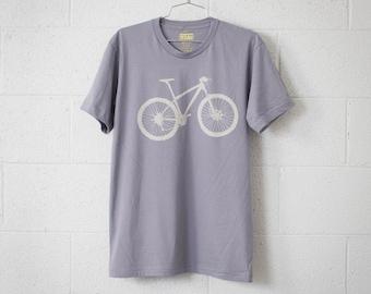 MOUNTAIN BIKE XL mens tshirt stone bicycle on slate Extra Large