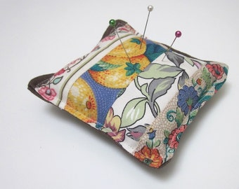 Fruit and Flower Patchwork Pincushion