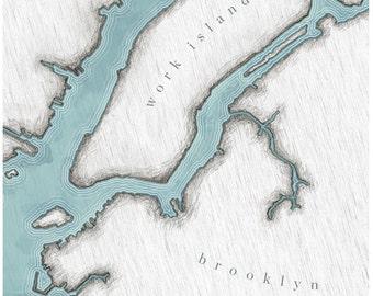 Work Island - Brooklyn gicleé print