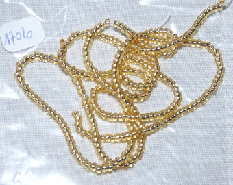 1 strand of seed bead collar 10/0 Gold ref 17020