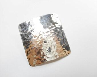 Hammered Pendant, Sterling Pendant, Large Pendant, Silver Pendant, Sterling Silver Heavy Highly Polished Hammered Design Pendant #2571