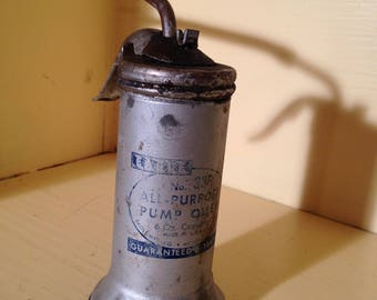 Vintage Eagle No. 33F  Pump Oiler, 6 Oz. Capacity Oil Can Free Shipping