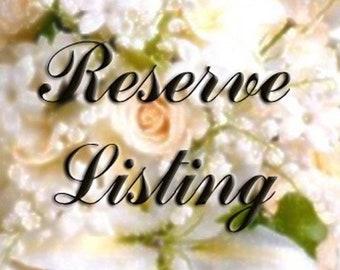 Reserved listing for elizabeth cuttitta