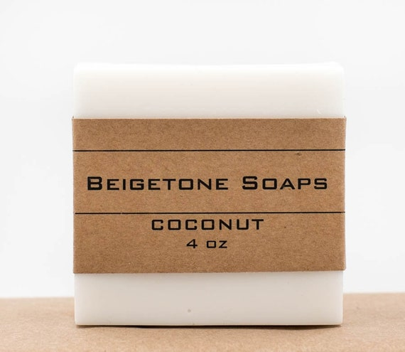 NEW - COCONUT Soap Bar | 4oz | Stunning White | Soothing SUMMER Scent