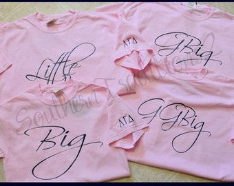 Big Little Tshirt - (1) Monogram Comfort Colors Tee - Big Little GBig reveal T-Shirt Comfort Colors