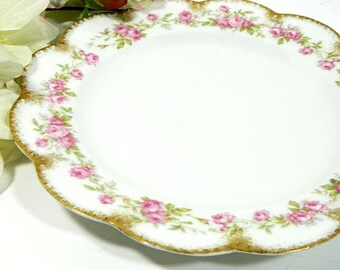 Antique Haviland Limoges Scalloped Luncheon Plate