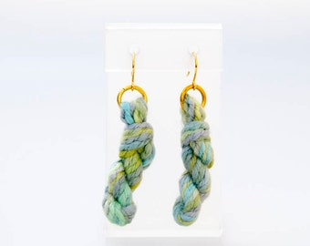 Spring Yarn Skein Earrings