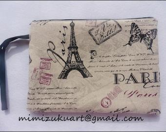 Clutch, bolso de mano modelo París, purse, bag, mimizuku art