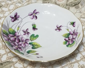 Royal Albert Flower of the Month Violets Orphan Saucer for 1950's / 60's Hampton & Gainsborough Cup Shapes