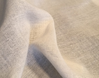 Raw Cotton Sile Fabric - Natural Cotton Light Weight Fabric - Breathable Fabric By the Yard - Beach Dried Fabric - Summer Fabric for Sewing