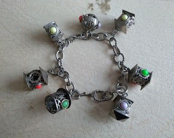 True Vintage 1950s Charm Bracelet- Statement Bracelet