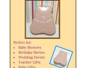 Teddy Bear Soap Favors, 30 Teddy Bear Soap Favors, Baby Shower Favors, Teddy Tea Party Favors
