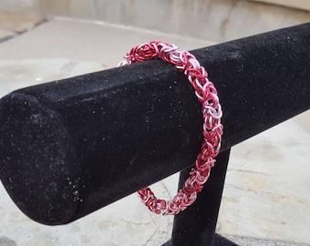 Rose Byzantine Chainmail Bracelet