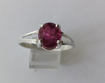 Genuine Pink Tourmaline Ring/Sterling Silver Tourmaline ring/size 7 genuine tourmaline ring