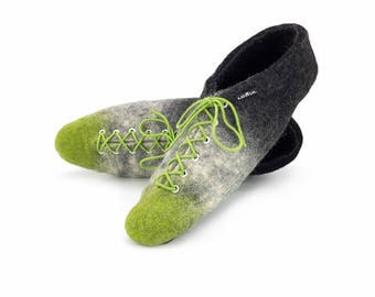Lowul Jinks Personalized Felted Wool Slippers