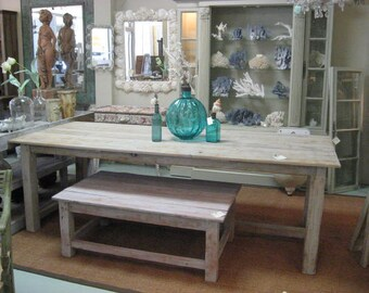 Reclaimed wood pine dining table.  USA made.