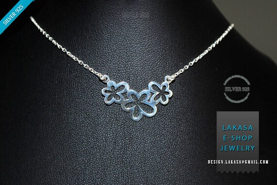 Flowers Necklace Sterling Silver Gold Plated Chain Fine Greek Art Jewelry Best gift ideas floral design moda mother day mama love affection
