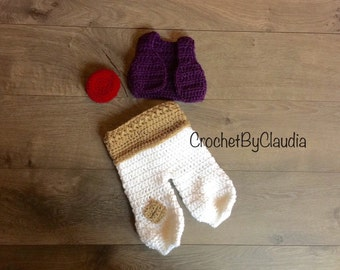 Crochet Aladdin Inspired PhotoProp Set/  Aladdin Costume/Made to Order