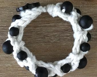 Crochet with wooden Beads Bracelet