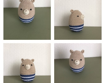 Cotton baby bear rattle.