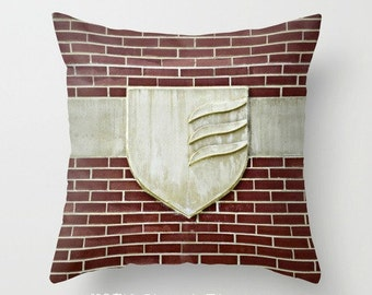 """GROVE CITY COLLEGE Insignia 16x16"""" Pillow Cover. Photo Art by TMCdesigns. In Stock. Home Decor. Brick & Limestone. Timeless. Graduation Gift"""