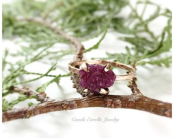 Ruby Ring, Ruby Engagement Rings, Rose Gold Ring, Engagement Rings, Promise Ring, Ruby Stone, Anniversary Ring, July Birthstone