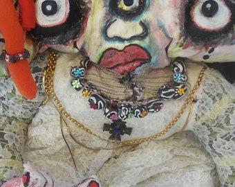 Cloth Art Doll Bride Doll Margharita Darkmoon