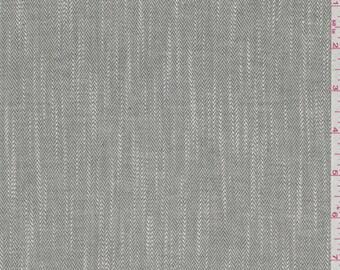 Green and White Herringbone, Fabric By The Yard