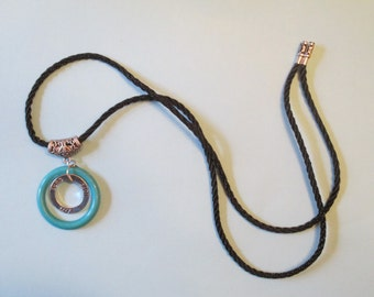 Necklace - Wear blue for hope & cure