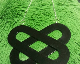 Back in Black statement necklace - repurposed upcycled