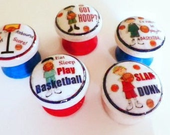 Sports Theme Knobs. Basketball Enthusiast, Wooden Knobs for Dresser or Cabinets, Sports Bar, Playroom. Available in a Variety Sizes/Images