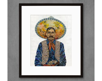 Vaquero Indigo Cowboy Art Print